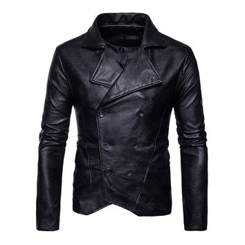 Gothic Plus Size Faux leather Burgundy Skull Jacket Long Sleeve Stand Collar Slim White Shirt Casual Cothes Black PU Jacket