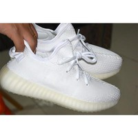 2017 SPLY-350 Boost V2 Cream White AAA+ quality Kanye West Boost 350 V2 SPLY Men Running Shoes women sneakers sports shoes eur 36-45