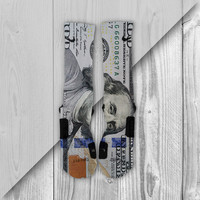 100 Dollar Bill Benjamins Custom Nike Elite Socks