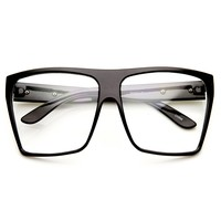 Large Oversized Retro Fashion Clear Lens Square Glasses