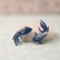 2 Fishes, flexible silicone mould, molds for polymer clay, epoxy resin and food, food-grade silicone, М280 (2/5)