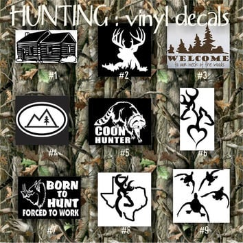 HUNTING vinyl decals - pgs 1-4 - car window stickers - personalizable vinyl stickers