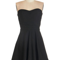 ModCloth Vintage Inspired Strapless A-line Unquestionably Cute Dress