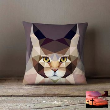 Geometric Cat Main Kun Pillowcase | Decorative
