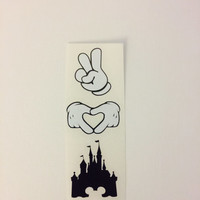 Peace Love Disney Decal Mickey Hands Any Size Any Color Disney Lover