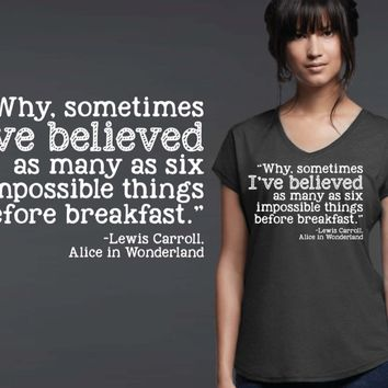 Impossible Things T-shirt | Alice In Wonderland