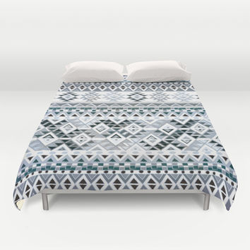 GEO TRIBAL N. // GRAY VERSION Duvet Cover by Nika | Society6