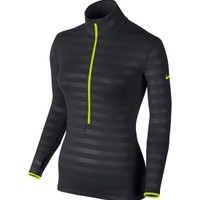 Nike Women's Pro Hyperwarm Fitted Emboss Compression Shirt | DICK'S Sporting Goods