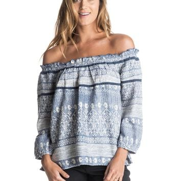 Beach Fossil Printed Cold Shoulder Top 889351477309 | Roxy
