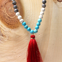 Spiritguide Mala Necklace - Red