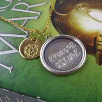 House Tyrell Rose Sigil Stamp & Motto Growing Strong Margaery Necklace Highgarden Westeros GAME OF THRONES Inspired Geekery