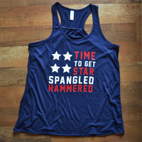 Star Spangled Hammered Women's Tank Top (Guaranteed Fourth of July Delivery)
