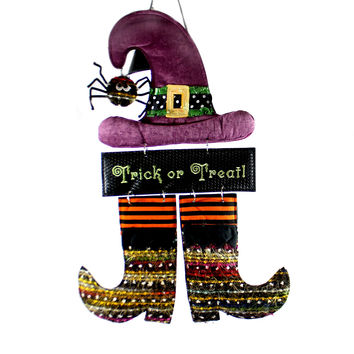 Halloween Witch Burlap Door Decor Halloween Door Decor