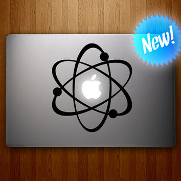 Atom MacBook Decal - The Atomic Apple Vinyl Decal - MacBook Sticker