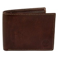 Timberland Fine Break Brown Leather Slimfold Wallet