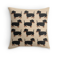 Black and Brown Dachshunds Pattern by AbigailDavidson