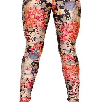 Yakuza Tattoo Leggings Design 377