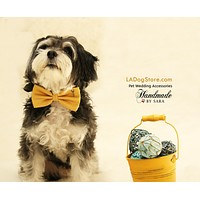 Dog Bow Tie attached to collar, Country Rustic wedding