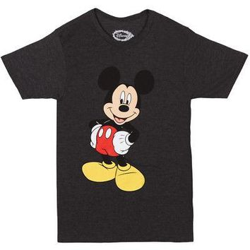 Mickey Mouse Disney Licensed Adult Unisex T-Shirt - Charcoal Heather Grey