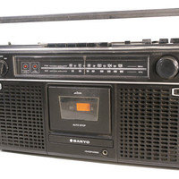 Vintage Sanyo M9902 Boombox in Great Working Condition