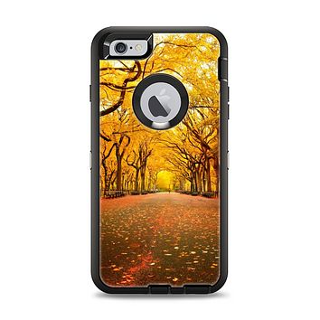 The Fall Back Road Apple iPhone 6 Plus Otterbox Defender Case Skin Set