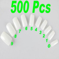 Fashion 500PCS Natural White Clear Acrylic Style False Nail Art Tips (Size: 2, Color: White) = 1705988164