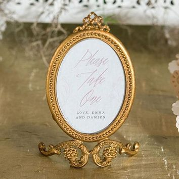 Small Oval Baroque Frame - Gold (Pack of 1)