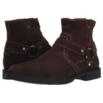 New Florsheim Men's Mogul Harness Brown Suede Ankle Boot