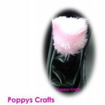 Cute Fluffy Baby Pink Gear knob stick shift cover faux fur fuzzy girly girl car accessories
