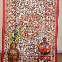 Flower Red Color Tapestry Indian Wall Hanging Cotton Tapestry Decor SBS01RD