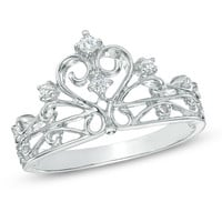 1/10 CT. T.W. Diamond Crown Ring in Sterling Silver