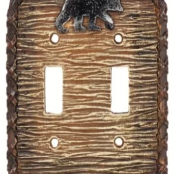 Cowgirl Kim Black Bear Double Switch Plate Cover