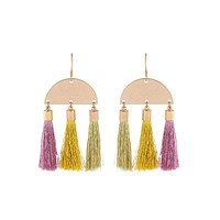 Geometric Tripple Tassel Earrings