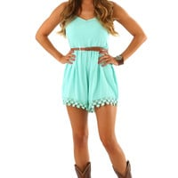 These Are The Days Romper: Aqua