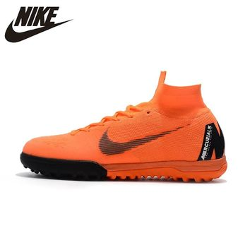 NIKE SUPERFLYX6 ELITE TF  Men Outdoor Firm Ground Football Boots Durable Ankle Top Soccer Cleats AH7374-810 39-45
