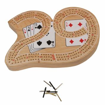 29-shaped Cribbage Board