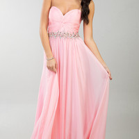 Floor Length Ruched Sweetheart Dress