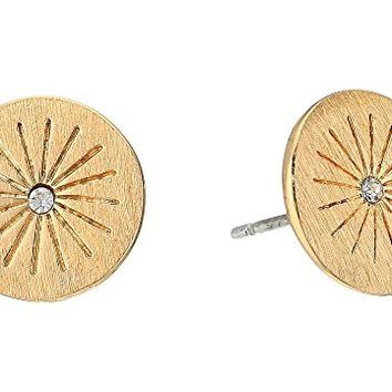 Rebecca Minkoff Mini Medallion Starburst Stud Earrings