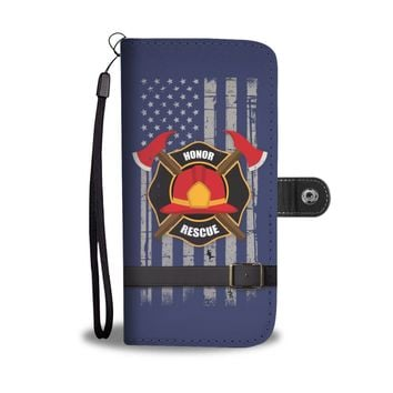 'Firefighter: Honor & Rescue' (Fireman) Wallet Phone Case