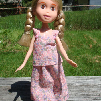 Made Under Rescued Bratz Upcycled Doll Repainted OOAK Handmade Clothes