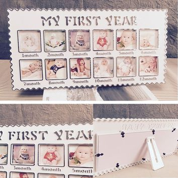 Infant's Baby One Year Picture Hanging Decorative Party Banquet Photo Frames