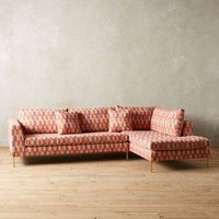 Yarn-Dyed Edlyn Right Arm Sectional by Anthropologie Multi Right Arm Sectional House & Home
