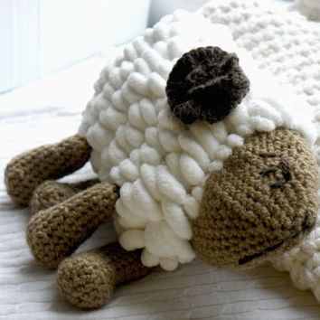 EASTER gift easter decor lamb kids toy crochet lamb toys easter decoration stuffed lamb toy baby toy sleeping toy