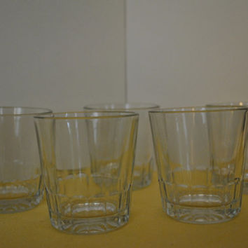 Set of five Anchor Hocking juice / high ball glasses