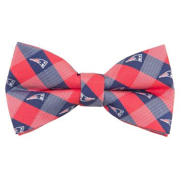 New England Patriots Check Woven Bow Tie, Size: One Size (Pat Team)