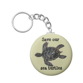 Save and Protect Sea Turtles Keychain