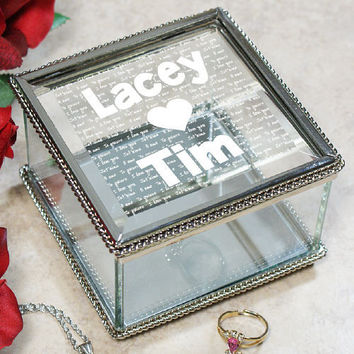 Engraved I Love You Jewelry Box