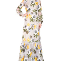 Erdem Ora Floral Long-Sleeve Gown