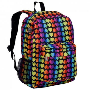 Monogram Backpack and Lunch Bag Set - Wildkin - Personalized - Rainbow Hearts - Back to School Crackerjack