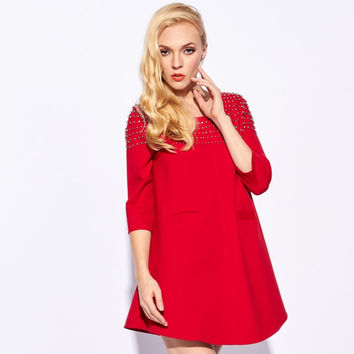 Sequin Sleeve Mini Dress With Pocket